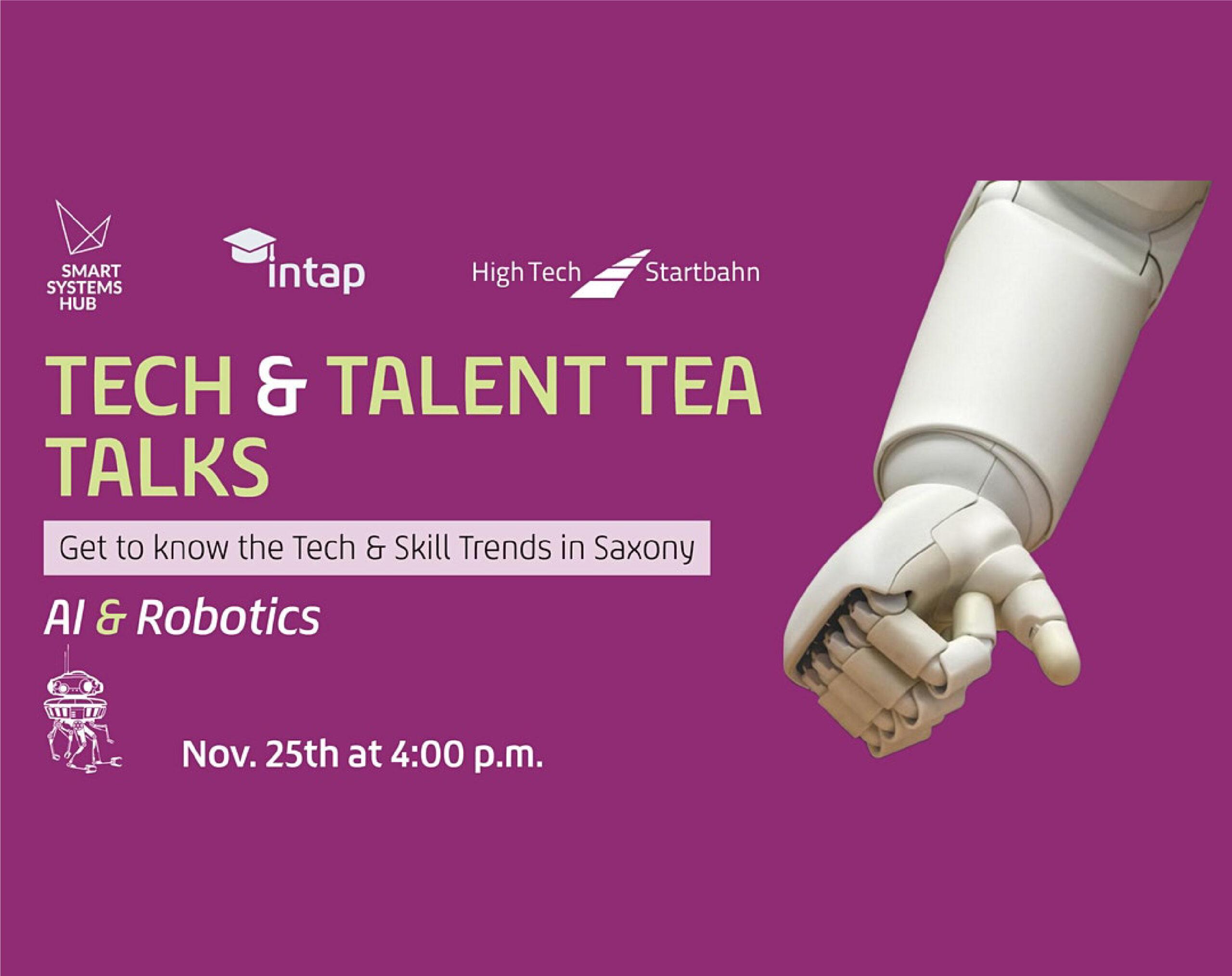 "PowerON's CEO on the panel ""Tech & Talent Tea Talks: AI & Robotics in Saxon Industry"", November 26th."